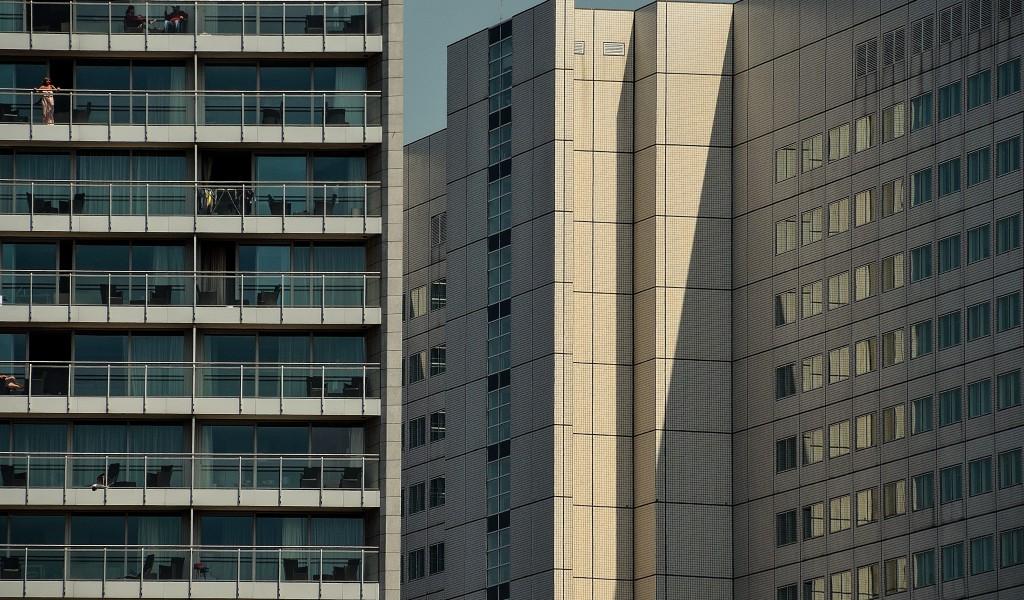 architectuurfotografie zicht op rotterdam