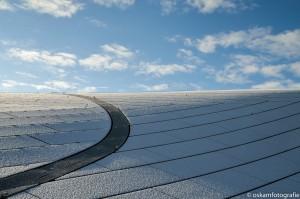 architectuurfotografie dak station arnhem kleur