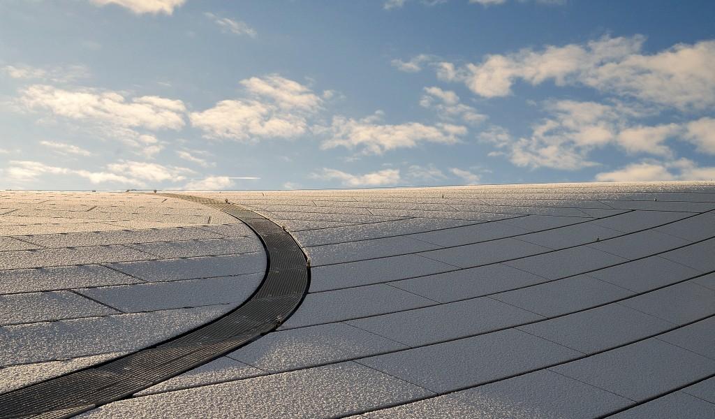 architectuurfotografie dak station arnhem kleur wit