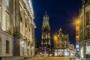 nachtfotografie de dom in Utrecht