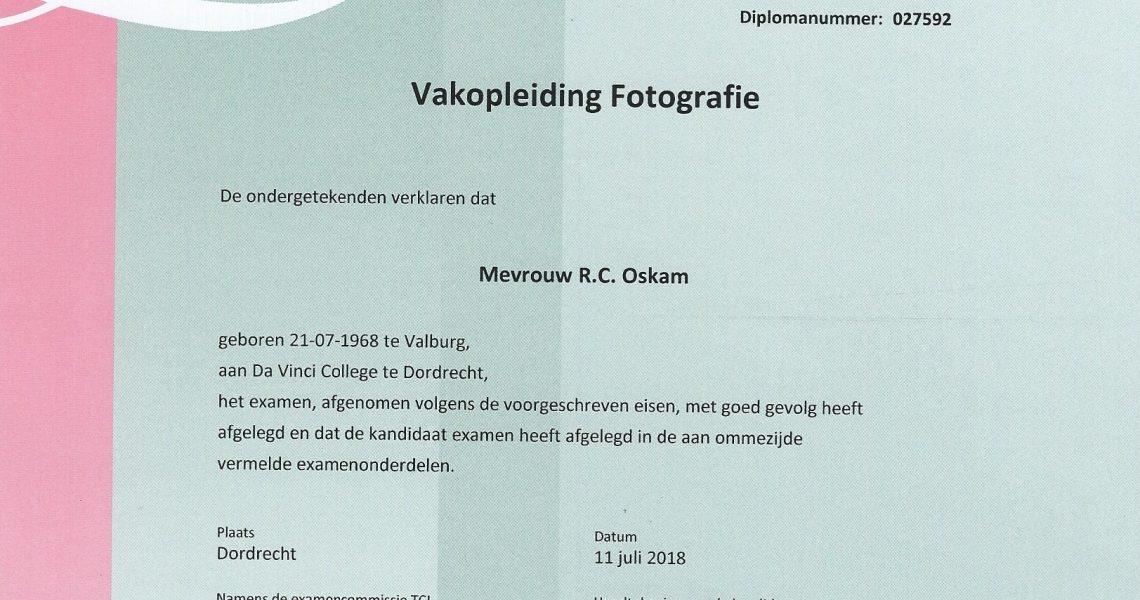 vakdiploma fotografie september 2018