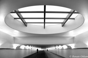architectuur fietstunnel  rotterdam