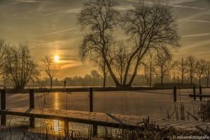 gouden morgen langs de breevaart
