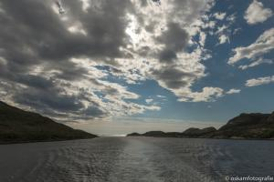 half bewolkt ergens tussen Trondheim en Rørvik