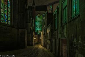kaarsjesavond achter de kerk gouda