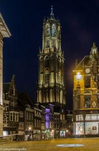 nachtfotografie de dom in Utrecht 2