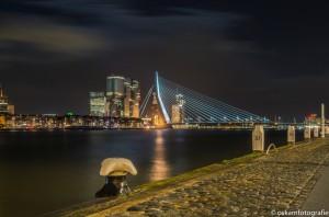 nachtfotografie rotterdam erasmusbrug