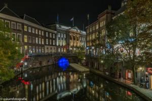 nachtfotografie Utrecht zicht op stadhuis