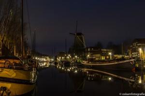 nachtfotografie buurtje molen vest gouda