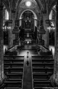 straatfotografie kerk in Viseu
