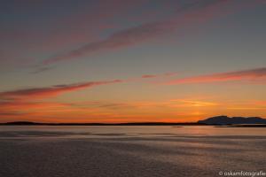 zonsondergang tussen Rørvik en Brønnøysund 03